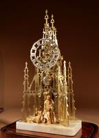Scottish Interest Historically Interesting Sir Walter Scott Skeleton Clock. (11 of 14)