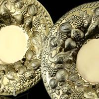 Magnificent Georgian Pair of Solid Silver Gilt Charger / Platter Dishes - George Burrows 1824 (6 of 27)