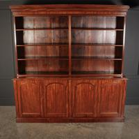 Large Mahogany Open Library Bookcase (6 of 11)