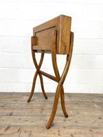 Antique Oak Folding Campaign Desk (9 of 10)