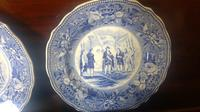 Pair of Antique Staffordshire Plates,History Series by Jones & Sons (6 of 6)