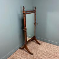 Elegant Regency Mahogany Antique Cheval Mirror (5 of 6)