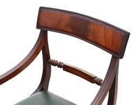 Set of 12 Regency Mahogany Dining Chairs 19th Century (6 of 8)