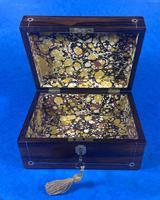 Rosewood Jewellery Box c.1830 (9 of 9)