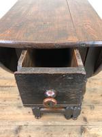 Antique Oak Drop Leaf Table (9 of 11)