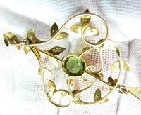 Antique Edwardian Seed Pearl Peridot Necklace (7 of 8)