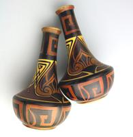 Good Pair of Art Deco Pottery Clews & Co Chameleon Vases c.1920-1939