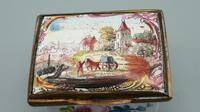 Beautiful 18th Century Georgian Bilston Battersea Enamel Patch Box c.1750 (2 of 8)