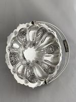 Edwardian Antique Silver Swing Handle Fruit Bowl / Basket 1905 Birmingham (6 of 12)