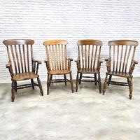4 x Windsor Lathback Armchairs