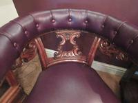 William IV Period Leather Library Armchair (2 of 5)