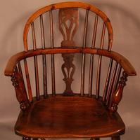 Yew Wood Low Back Windsor Chair Rockley Maker (4 of 10)