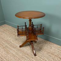 Antique Walnut Revolving Victorian Bookstand Table (3 of 6)