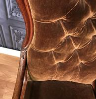 Victorian Mahogany Scroll Arm Nursing Chair (2 of 9)