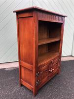 Carved Oak Open Bookcase (5 of 7)