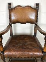 Set of Four Antique Leather Armchairs (5 of 16)