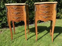 Pair of French Marquetry Bedside Tables (7 of 8)