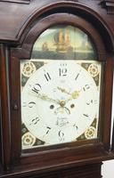 19thc English 8 Day Longcase Clock Mahogany Case Galleon Painted Dial Grandfather Clock (9 of 19)