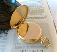 Antique Pocket Watch 1903 Special Waltham 10ct Rose Gold Filled Fwo (7 of 12)