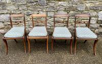 Set of 4 Regency Rosewood Sabre Leg Dining Chairs (4 of 15)