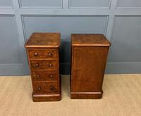Victorian Pair of Burr Walnut Bedside Chests (5 of 14)