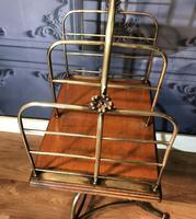 Victorian Brass & Oak Revolving Bookcase (7 of 9)