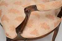 Antique French Carved Walnut Salon Armchair (7 of 10)