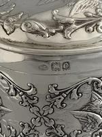Large Victorian HEART Antique Silver Trinket / Jewellery Box 1898 W COMYNS (9 of 12)