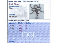 1.48ct Diamond & 12ct Yellow Gold Pendant - Antique c.1900 (7 of 9)