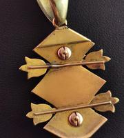 Victorian Blue Enamel & Split Pearl Pendant, 9ct Gold (12 of 12)