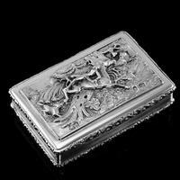 Rare Antique Georgian Solid Silver Mazeppa Snuff Box - Edward Smith 1836 (2 of 23)