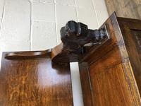 Antique Carved Oak Monk's Bench (4 of 10)