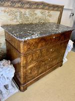 19th Century French Burr Walnut Commode with Marble Top (6 of 9)