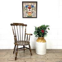 Antique Ash & Elm Armchair with Penny Seat (2 of 9)