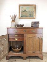 Antique Oak Cupboard on Bracket Feet (12 of 12)
