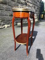 Antique Marble Top Mahogany Kidney Shaped Table (7 of 8)