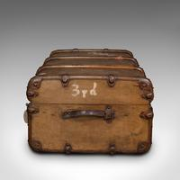 Large Antique Steamer Trunk, English, Cedar, Shipping Chest, Edwardian c.1910 (5 of 12)