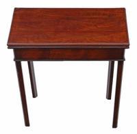 Georgian 18th Century Cuban Mahogany Folding  Tea Table / Console Table (2 of 4)
