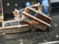 Stunning Art Deco HM Sterling Silver Cruets c1934 (8 of 12)