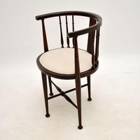 Antique Edwardian Mahogany Tub Chair (3 of 10)