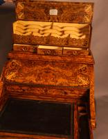 "Superb Victorian Burr Walnut ""Jack in a Box"" Davenport (15 of 16)"