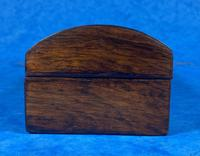 William IV Rosewood Glove Box with Brass Inlays (6 of 11)