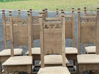 Set 8 Oak Farmhouse Dining Chairs (8 of 14)
