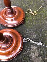 Pair of Antique Mahogany Floor Standard Lamps (8 of 8)
