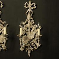 Italian Polychrome Pair of Twin Arm Wall Lights (2 of 10)