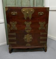 Oriental Style Campaign Bureau, Filing Cabinet with Secret Compartment (9 of 9)