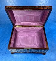 English Boulle & Brass Kingwood Edged Jewellery Box (8 of 16)