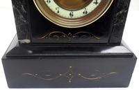 Good Slate & Marble Mantel Clock 8 Day Striking Mantle Clock (7 of 9)