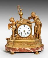 Louis XVI Period Gilt Bronze Mantel Clock
