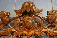 Large 19th Century Black Forest Carved Mirror (9 of 12)